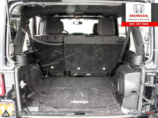 2014 Jeep Wrangler Unlimited Sahara (Stk: 19403A) in Cambridge - Image 11 of 27