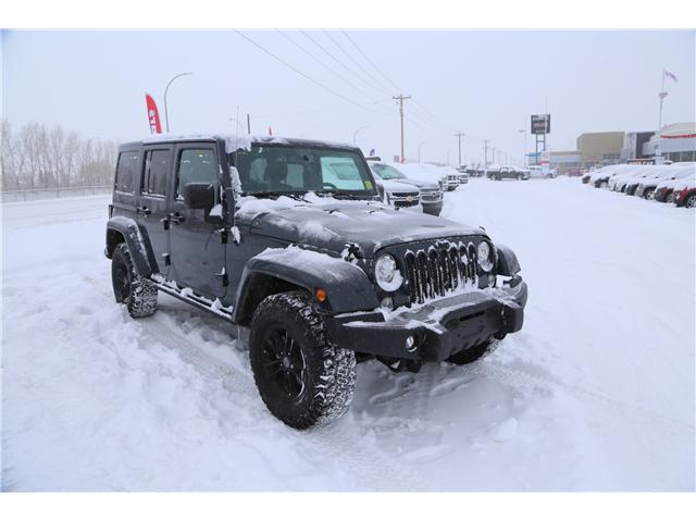 2017 Jeep Wrangler Unlimited Sahara (Stk: 169464) in Medicine Hat - Image 1 of 24