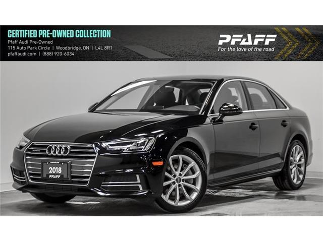 2018 Audi A4 2.0T Progressiv (Stk: C6554) in Woodbridge - Image 1 of 21