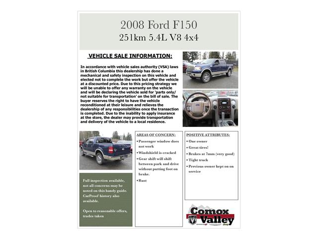2008 Ford F-150 Lariat (Stk: N630124B) in Courtenay - Image 10 of 10