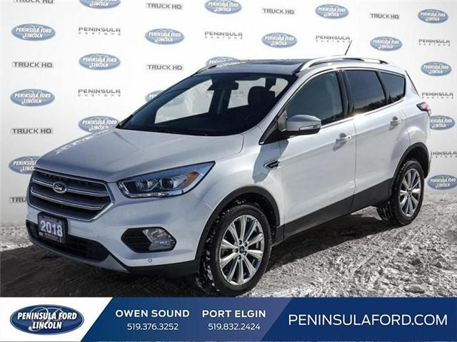 2018 Ford Escape Titanium (Stk: 1696) in Owen Sound - Image 1 of 24
