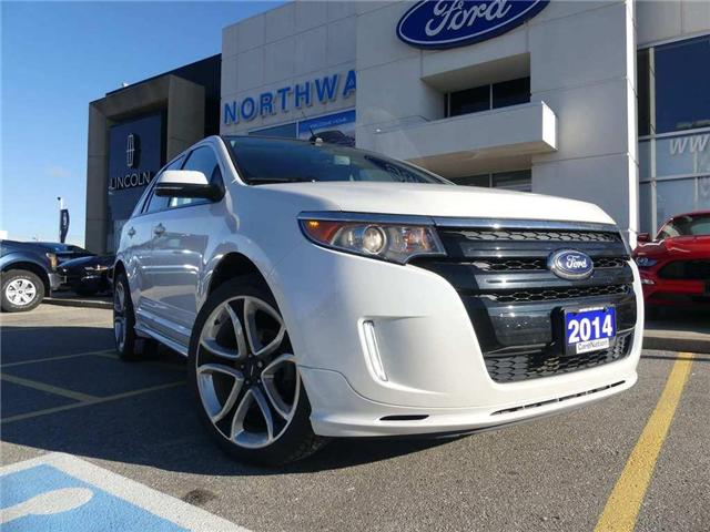 2014 Ford Edge Sport | NAV | LEATHER | REMOTE START | PANO ROOF (Stk: F186913A) in Brantford - Image 2 of 25