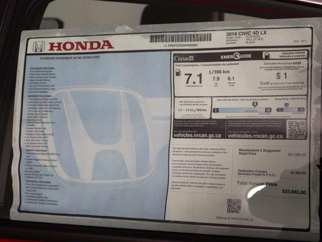 2019 Honda Civic LX (Stk: 219071) in Huntsville - Image 11 of 27