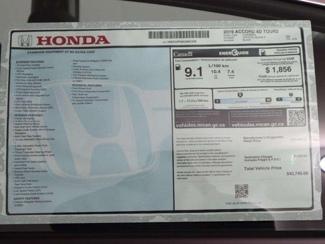 2019 Honda Accord Touring 2.0T (Stk: 219268) in Huntsville - Image 11 of 35