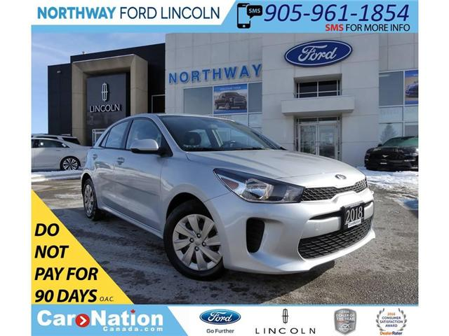 2018 Kia Rio LX+ | KEYLESS ENTRY | HTD SEAT/WHEEL | BACKUP CAM (Stk: DR72) in Brantford - Image 1 of 30