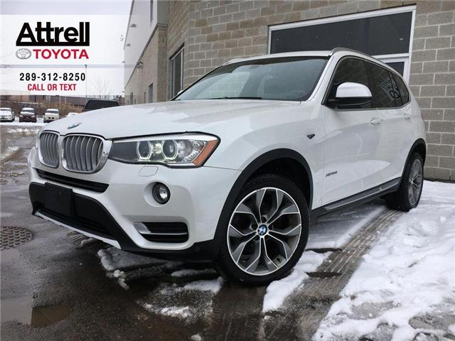 2015 BMW X3 XDRIVE28I AWD LEATHER, PANO SUNROOF, ALLOYS, FOG L (Stk: 43602A) in Brampton - Image 1 of 19