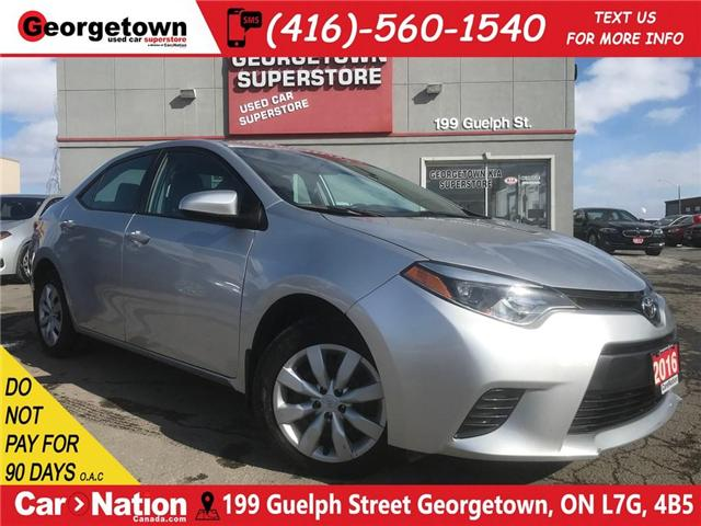 2016 Toyota Corolla LE | B/U CAM | HTD SEATS | USB/AUX IN | BLUETOOTH (Stk: DR505) in Georgetown - Image 1 of 25