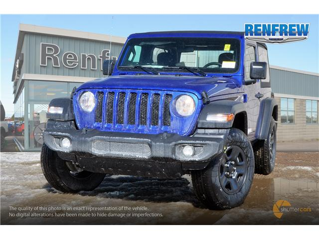 2019 Jeep Wrangler Sport (Stk: K157) in Renfrew - Image 1 of 20