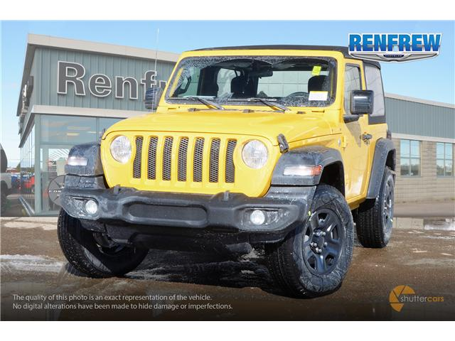 2019 Jeep Wrangler Sport (Stk: K161) in Renfrew - Image 1 of 20