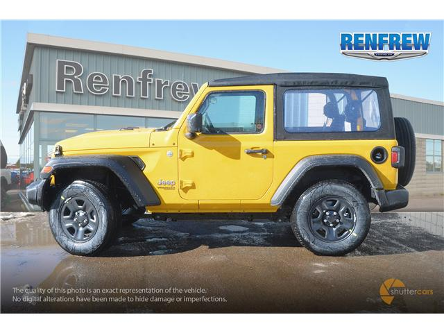 2019 Jeep Wrangler Sport (Stk: K161) in Renfrew - Image 3 of 20