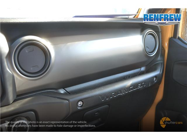 2019 Jeep Wrangler Sport (Stk: K161) in Renfrew - Image 19 of 20