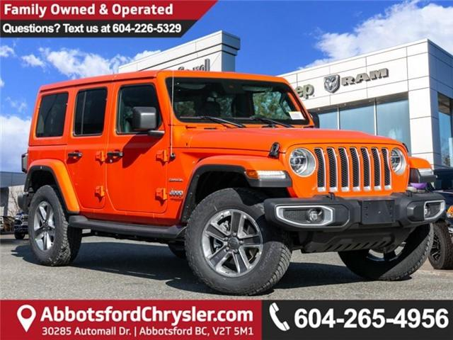 2019 Jeep Wrangler Unlimited Sahara (Stk: K558710) in Abbotsford - Image 1 of 28