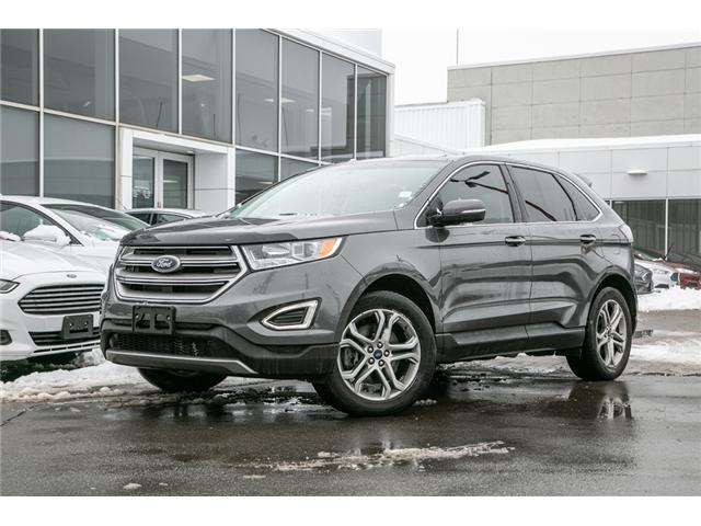 2016 Ford Edge Titanium AWD-LEATHER-POWER ROOF-LOADED-JUST TRADED (Stk: 1912241) in Ottawa - Image 1 of 29