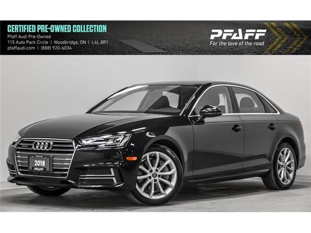 2018 Audi A4 2.0T Progressiv (Stk: C6599) in Woodbridge - Image 1 of 22