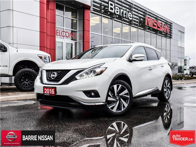 2016 Nissan Murano Platinum (Stk: P4540) in Barrie - Image 1 of 30