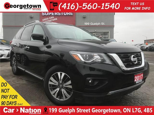2017 Nissan Pathfinder SL   4X4   LEATHER   7 PASS   TOW PKG   BU CAM (Stk: DR514) in Georgetown - Image 1 of 30