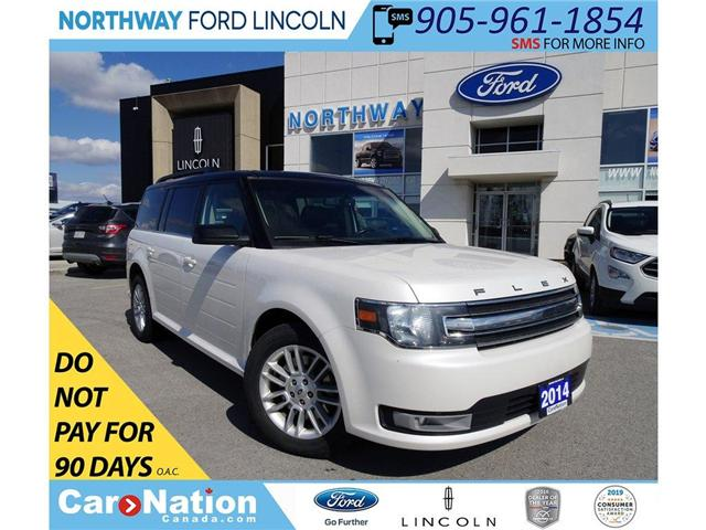 2014 Ford Flex SEL | PWR HTD LEATHER | PANO ROOF | 3 ROWS | (Stk: EX90487A) in Brantford - Image 1 of 30