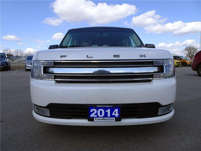 2014 Ford Flex SEL | PWR HTD LEATHER | PANO ROOF | 3 ROWS | (Stk: EX90487A) in Brantford - Image 2 of 30