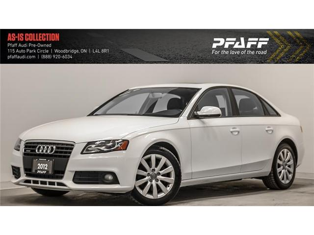 2012 Audi A4 2.0T (Stk: T13592AA) in Woodbridge - Image 1 of 21