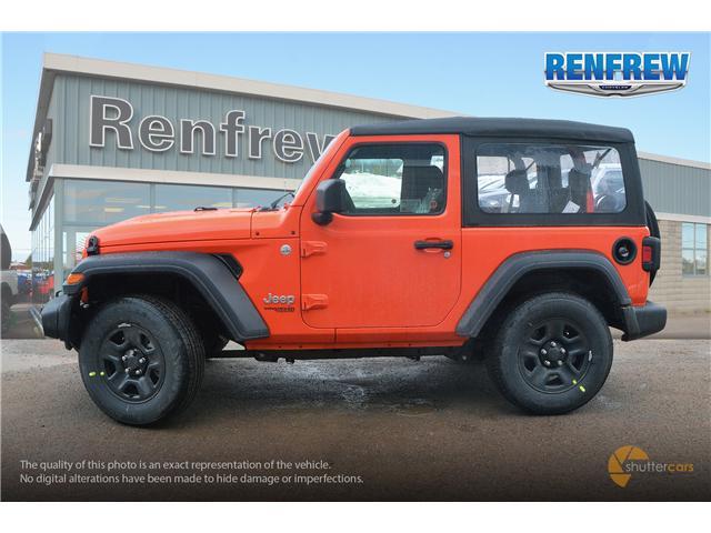 2019 Jeep Wrangler Sport (Stk: K173) in Renfrew - Image 3 of 20