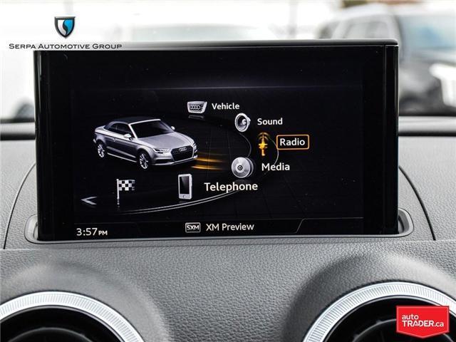 2018 Audi A3 2.0T Technik (Stk: P1271) in Aurora - Image 20 of 27
