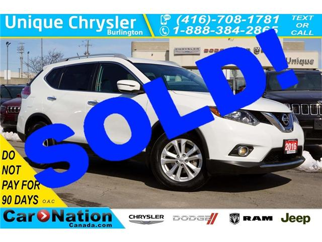 2016 Nissan Rogue SV| REAR CAM| BLUETOOTH| HEATED SEATS & MORE (Stk: J618A) in Burlington - Image 1 of 30
