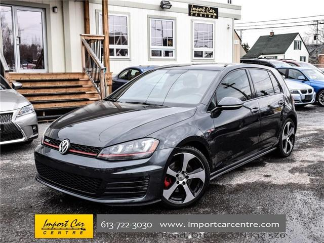 2015 Volkswagen Golf GTI 5-Door Autobahn (Stk: 001778) in Ottawa - Image 1 of 30