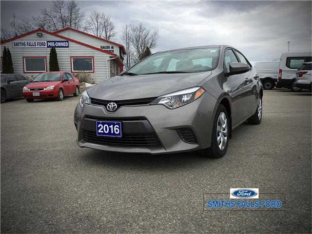 2016 Toyota Corolla LE (Stk: 18686A) in Smiths Falls - Image 2 of 7