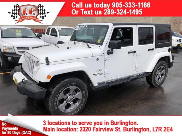 2016 Jeep Wrangler Unlimited Sahara (Stk: 45197A) in Burlington - Image 1 of 23