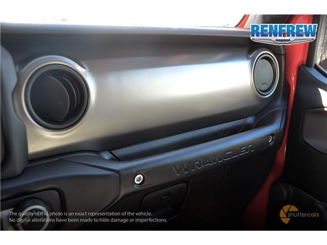 2019 Jeep Wrangler Sport (Stk: K174) in Renfrew - Image 19 of 20