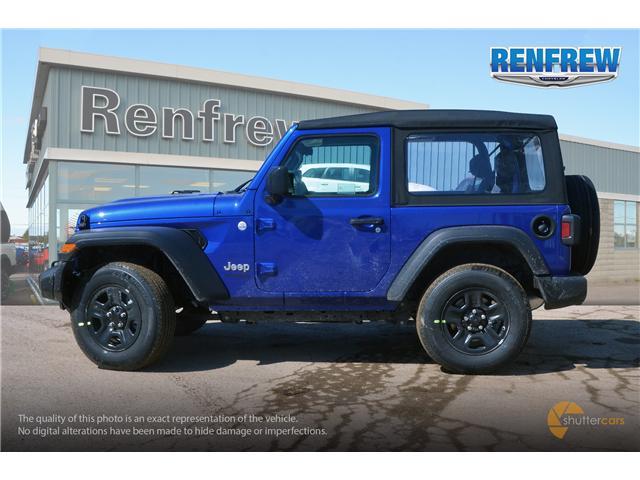 2019 Jeep Wrangler Sport (Stk: K180) in Renfrew - Image 3 of 20