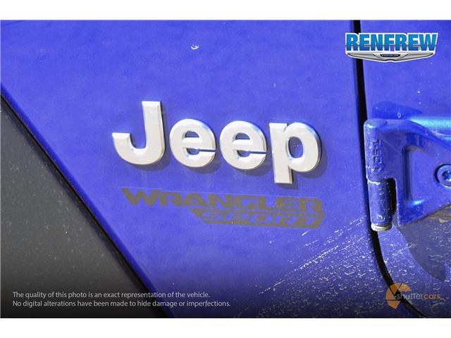 2019 Jeep Wrangler Sport (Stk: K180) in Renfrew - Image 6 of 20