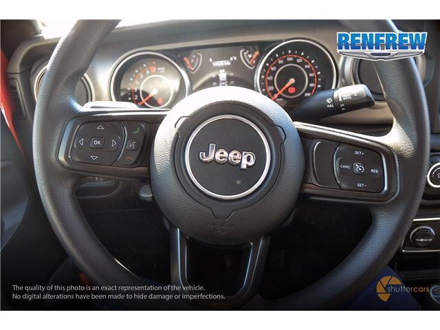 2019 Jeep Wrangler Sport (Stk: K182) in Renfrew - Image 11 of 20