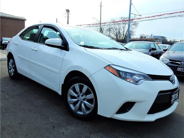 2016 Toyota Corolla  (Stk: 2T1BUR) in Kitchener - Image 1 of 23