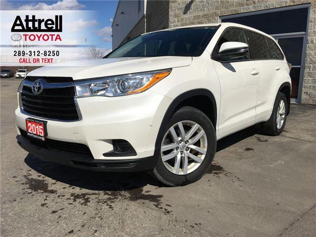 2015 Toyota Highlander LE 8 PASS FWD TINT, ALLOY WHEELS, BACK CAMERA, BLU (Stk: 43805A) in Brampton - Image 1 of 24