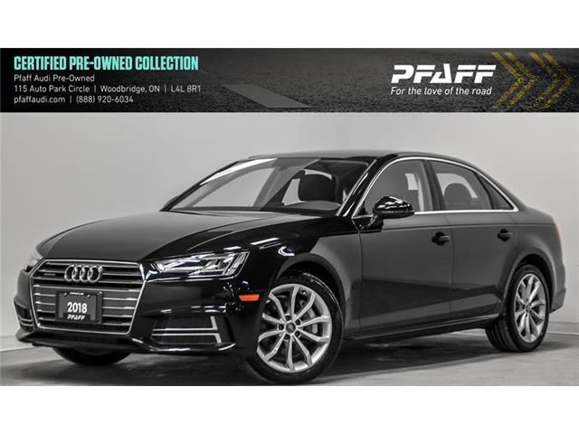 2018 Audi A4 2.0T Progressiv (Stk: C6555) in Vaughan - Image 1 of 22