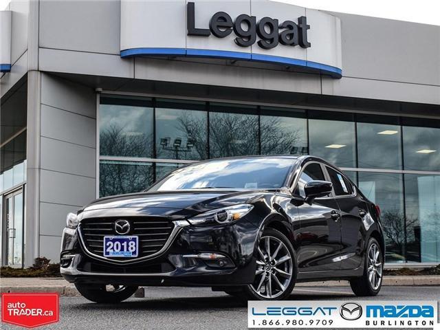 2018 Mazda Mazda3 GT- PREMIUM PKG, AUTOMATIC, TINT, BOSE STEREO (Stk: 1829) in Burlington - Image 1 of 25
