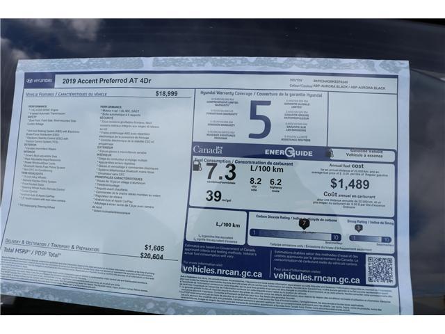 2019 Hyundai Accent Preferred (Stk: 91744) in Saint John - Image 3 of 3