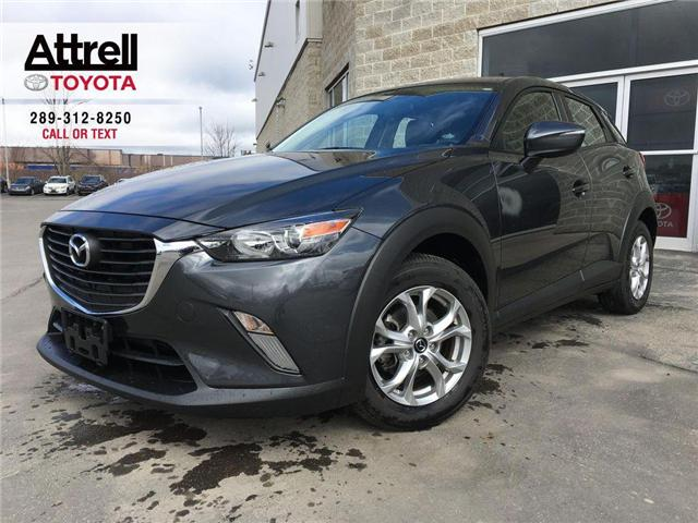 2017 Mazda CX-3 FWD LEATHER, SUNROOF, NAVI, ALLOY, FOG, BACK CAM,  (Stk: 43877A) in Brampton - Image 1 of 28