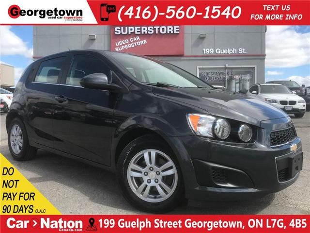 2015 Chevrolet Sonic LT | BACK UP CAM | BLUETOOTH | ALLOY WHEELS (Stk: P120000M2K) in Georgetown - Image 1 of 25