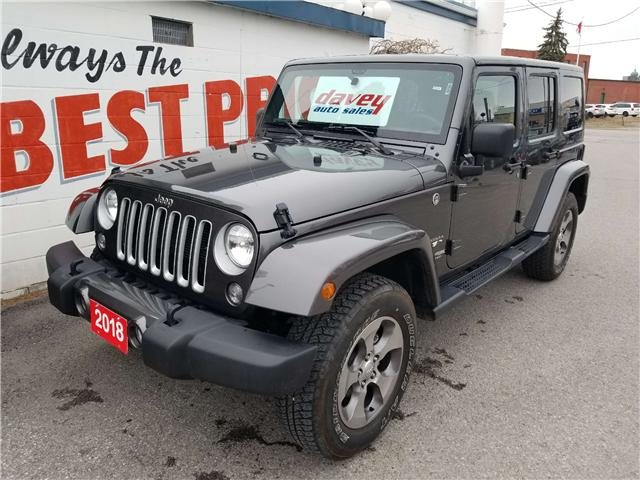 2018 Jeep Wrangler JK Unlimited Sahara (Stk: 19-240A) in Oshawa - Image 1 of 13