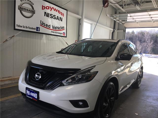 2018 Nissan Murano Midnight Edition (Stk: P0644) in Owen Sound - Image 1 of 11