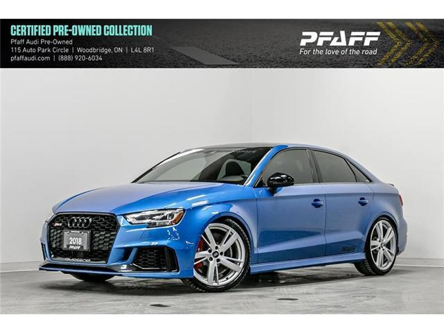2018 Audi RS 3 2.5T (Stk: T15899A) in Woodbridge - Image 1 of 22