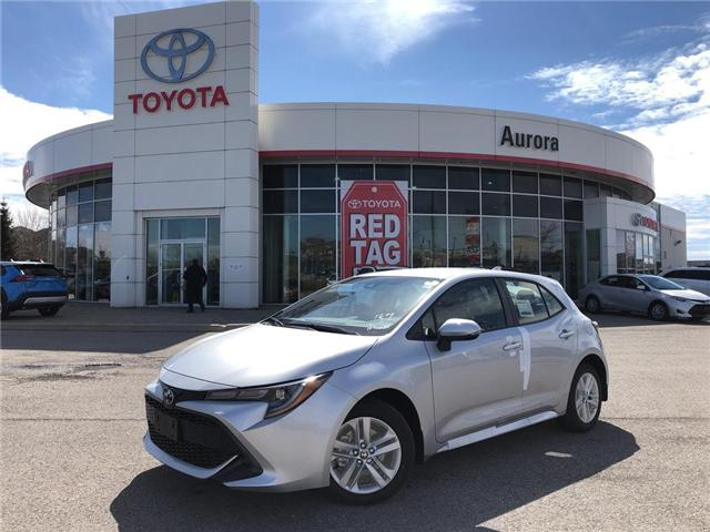 2019 Toyota Corolla Hatchback Base (Stk: 30830) in Aurora - Image 1 of 15