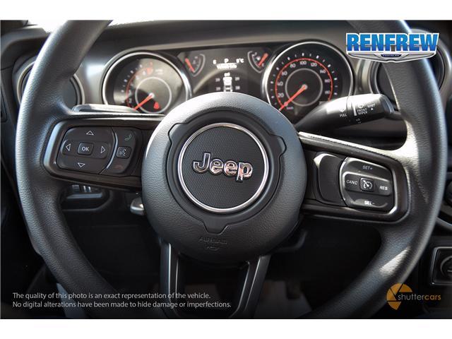 2019 Jeep Wrangler Sport (Stk: K176) in Renfrew - Image 11 of 20