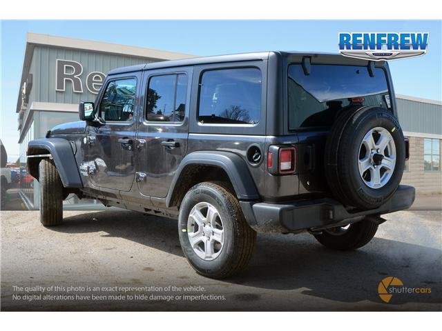 2019 Jeep Wrangler Unlimited Sport (Stk: K184) in Renfrew - Image 4 of 20