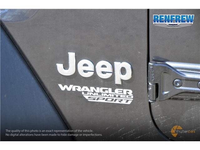 2019 Jeep Wrangler Unlimited Sport (Stk: K184) in Renfrew - Image 6 of 20