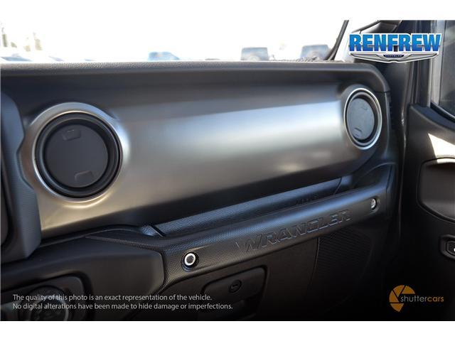 2019 Jeep Wrangler Unlimited Sport (Stk: K184) in Renfrew - Image 19 of 20