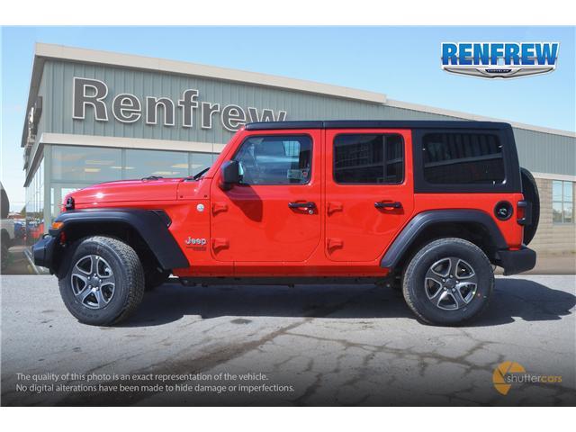 2019 Jeep Wrangler Unlimited Sport (Stk: K200) in Renfrew - Image 3 of 20