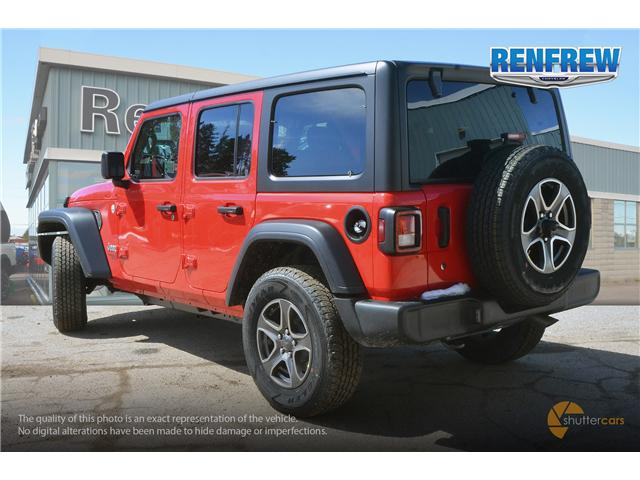 2019 Jeep Wrangler Unlimited Sport (Stk: K200) in Renfrew - Image 4 of 20